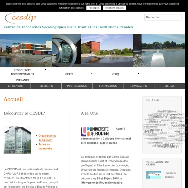 Centre de recherche Sociologique sur le Droit et les Institutions Pénales - CESDIP