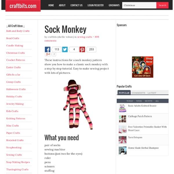 Sock Monkey | Pearltrees