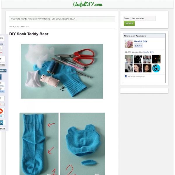 DIY Sock Teddy Bear Projects Pearltrees