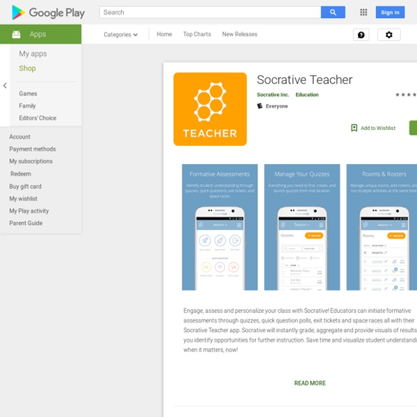 Socrative Teacher – Applications Android sur GooglePlay