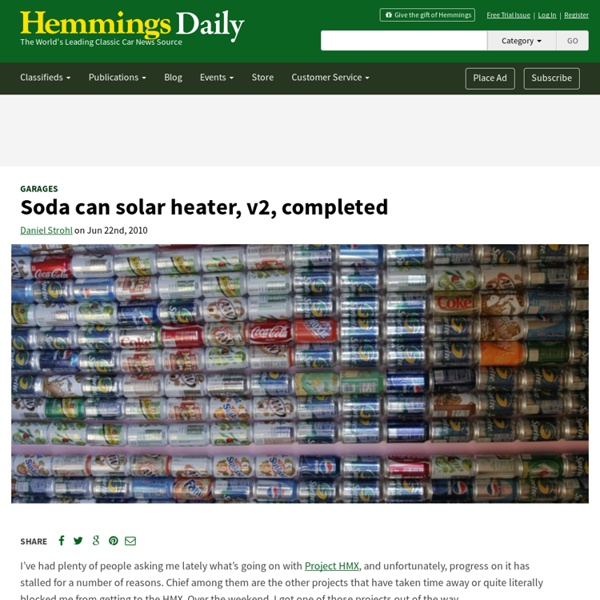 Soda Can Solar Heater, v2, Completed