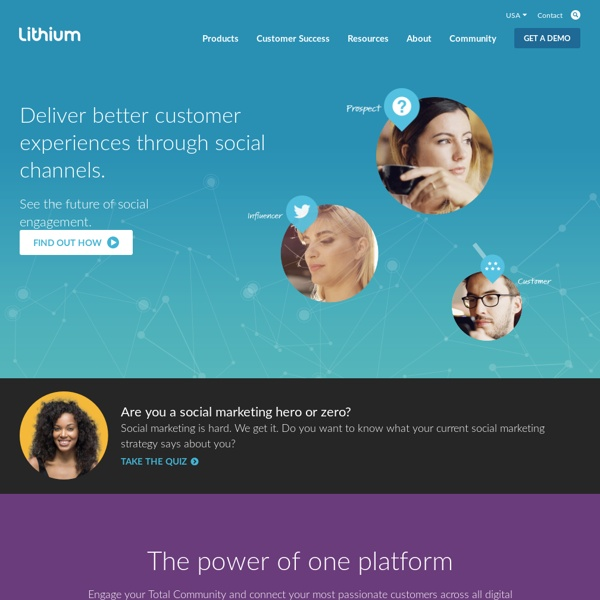 Lithium Social Software for Customer Community Management & Social Media Marketing Solutions