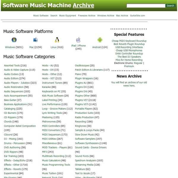 Music Software - Computer Music Resources