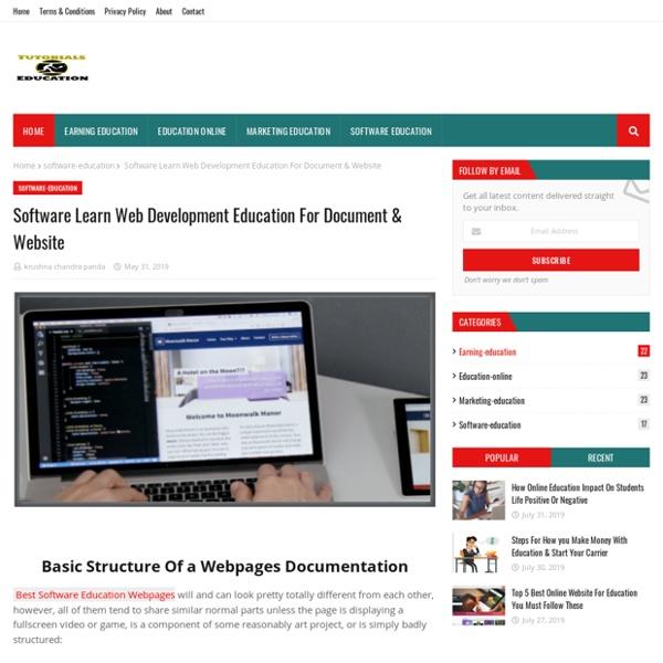 Software Learn Web Development Education For Document & Website