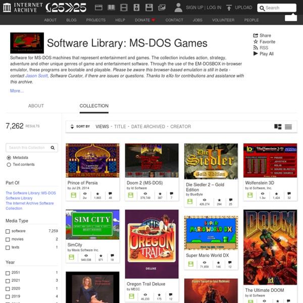 Internet archive : 2400 jeux gratuits pour MS-DOS