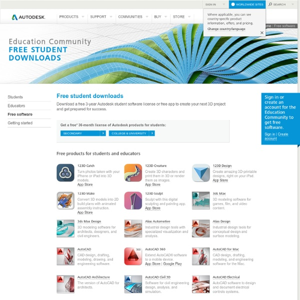 free student software downloads autodesk education