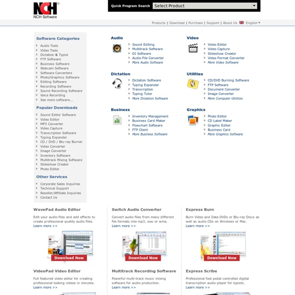 NCH Software - Free Software Downloads and Installs