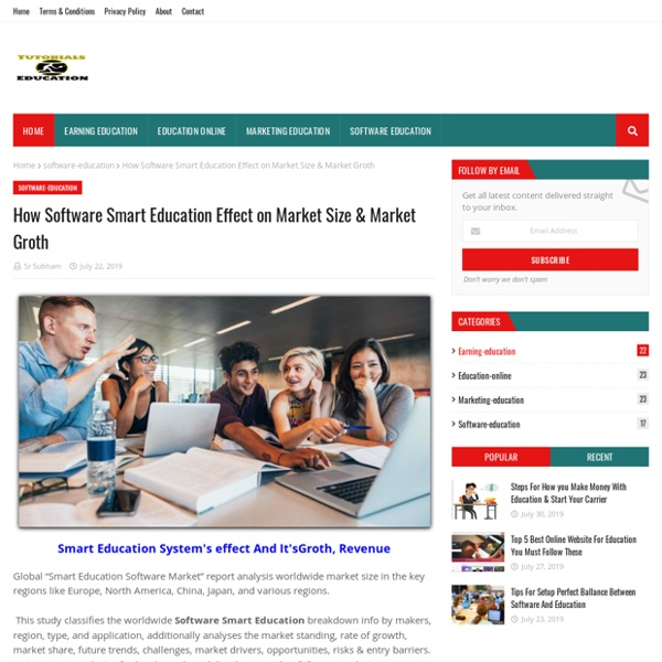 How Software Smart Education Effect on Market Size & Market Groth