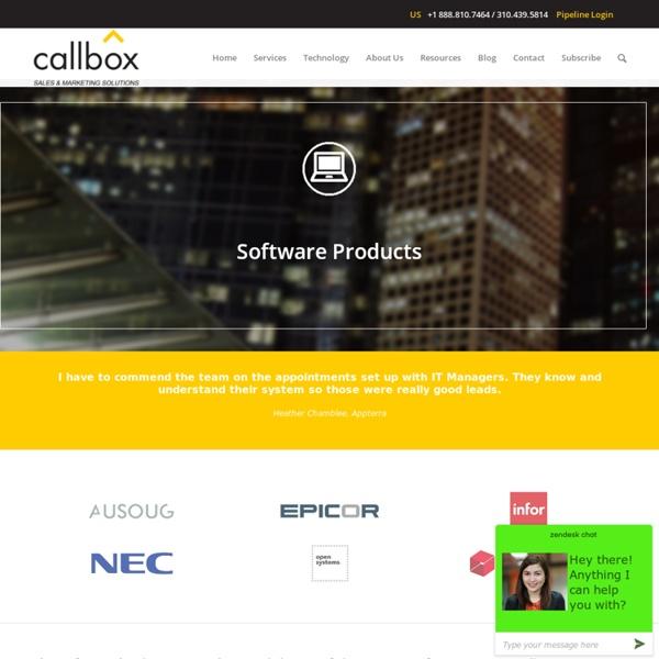 Software Products - B2B Lead Generation Australia