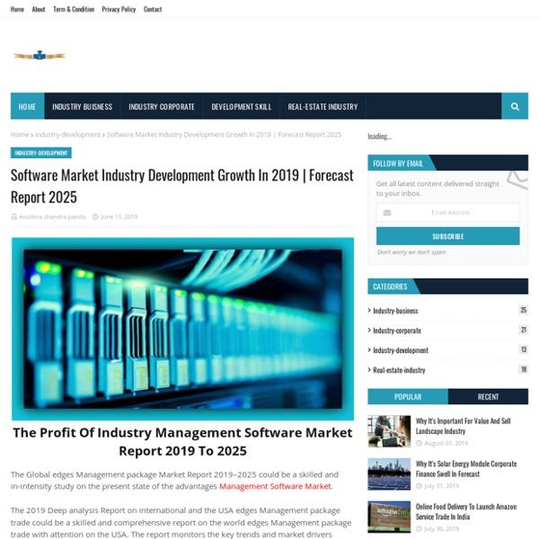 Software Market Industry Development Growth In 2019