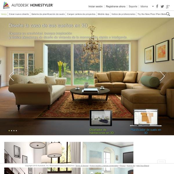 Autodesk homestyler software gratuito para dise o de for Diseno interiores software