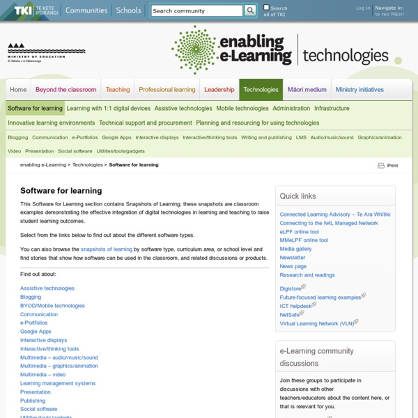 Software for learning / Technologies