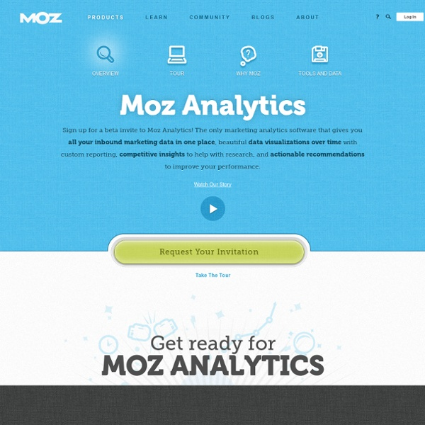 Analytics - All Your Inbound Marketing Data in One Place