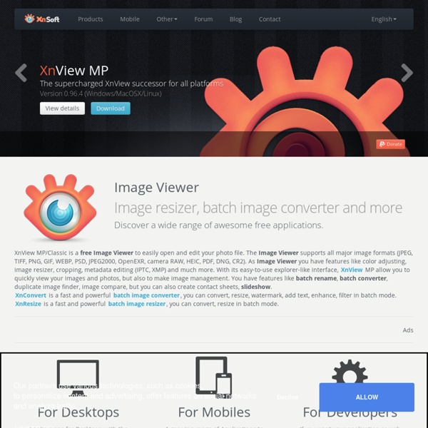 XnView Software - Free graphic and photo viewer, converter, organizer