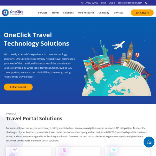 White Label Travel Technology Solutions Provider Company