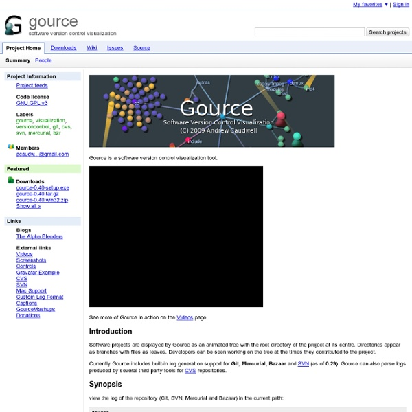 Gource visualisation tool
