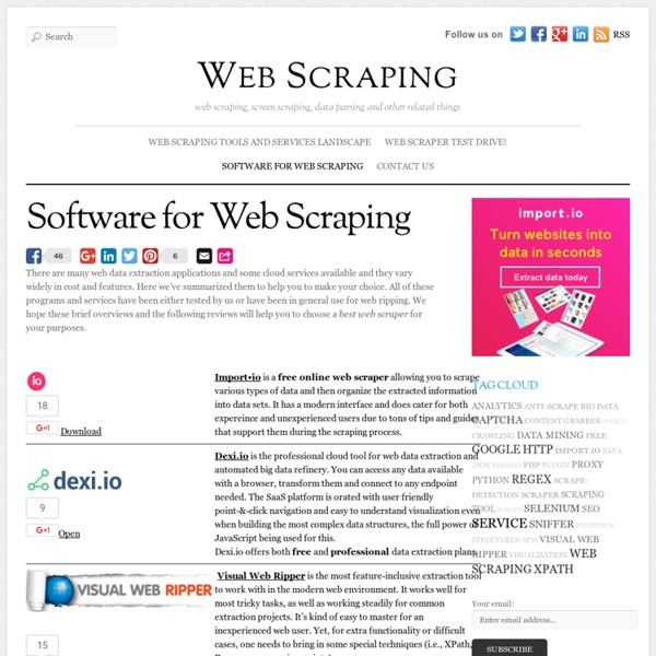 Software for Web Scraping - Web Scraping