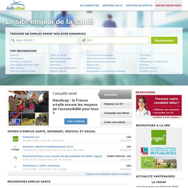 Offre emploi santé - emploi médical, paramédical - emploi cadre de santé, kiné, infirmière