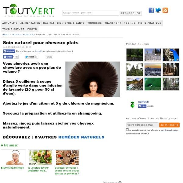Soin naturel pour cheveux plats