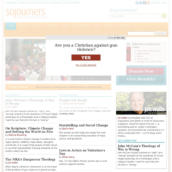 Sojourners: Christians for Justice and Peace