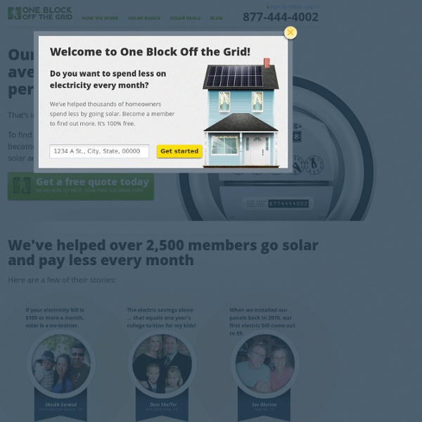 1BOG Home Solar Power Discounts - Buy Solar Panels for Your Home!