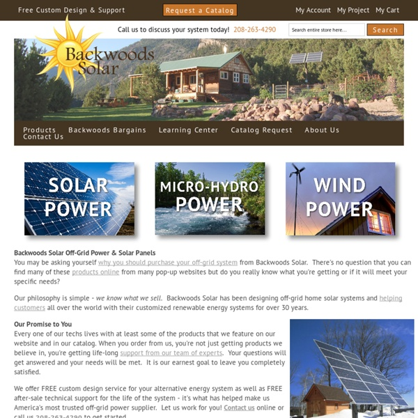 Solar, Hydro and Wind Systems for your home