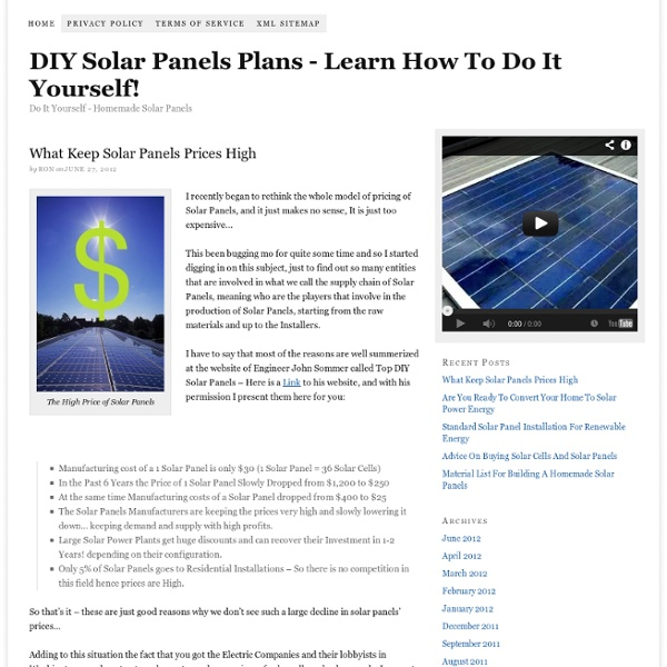Do It Yourself Solar Panels – DIY Solar Panels