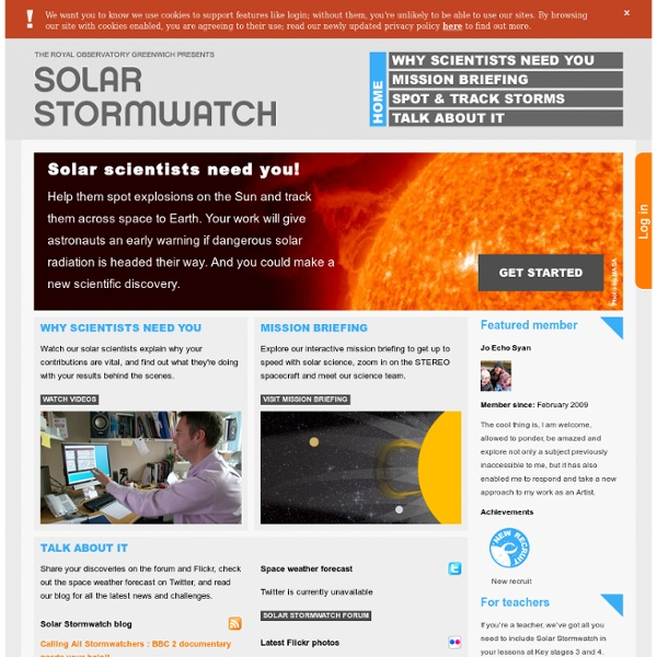 Solar Stormwatch | Pearltrees