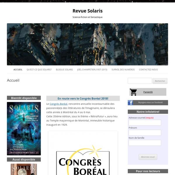 Revue Solaris: Accueil