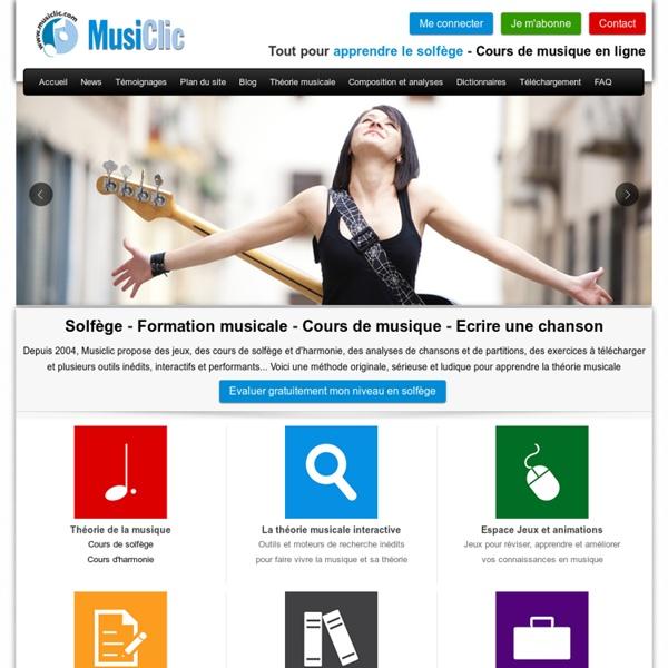 Solfège, cours de musique en ligne, jeux et exercices pour apprendre la théorie musicale