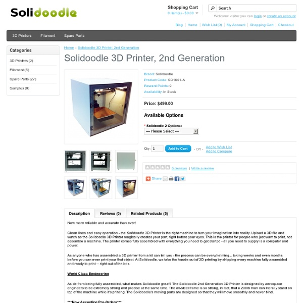 3D Printer, 2nd Generation