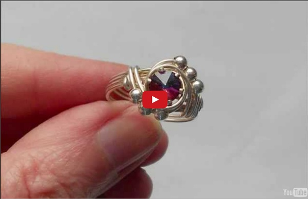 Easy Beaded Solitaire Ring - A wire wrap tutorial