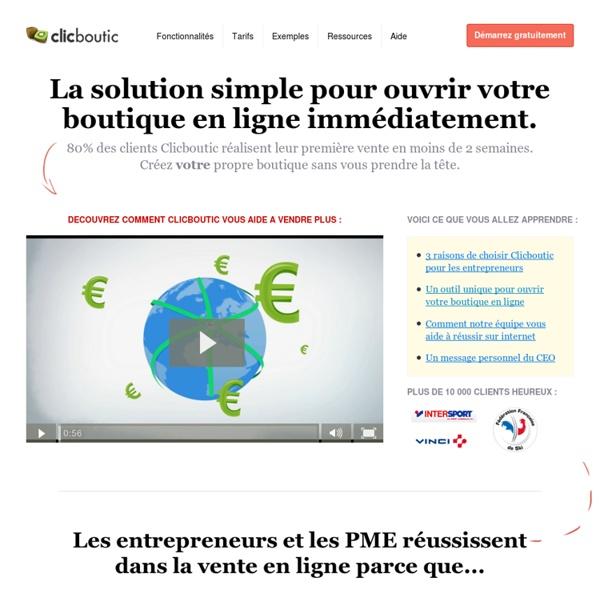 Solution E-Commerce - Création de Boutique en Ligne