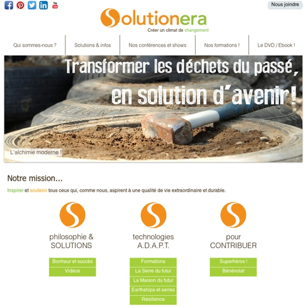 Solution Era - l'ère des Solutions - site officiel