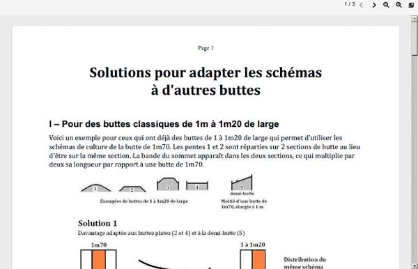 Solutions pour adapter les schemas a dautres buttes