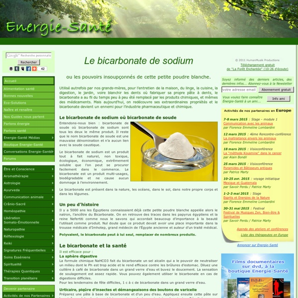 Eco-Solutions » Blog Archive » Le bicarbonate de sodium