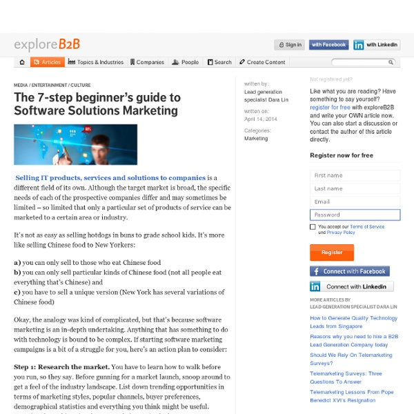 The 7-step beginner's guide to Software Solutions Marketing