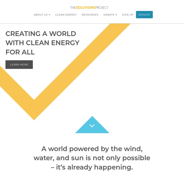 The Solutions Project - 100% Renewable Energy