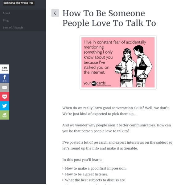 How to Be Someone People Love to Talk to