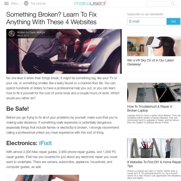 Something Broken? Learn To Fix Anything With These 4 Websites