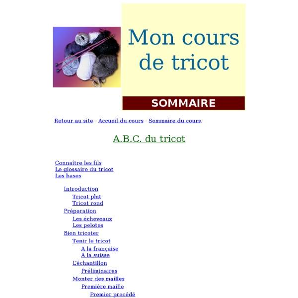 ABC du tricot