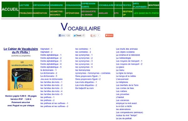 Sommaire vocabulaire