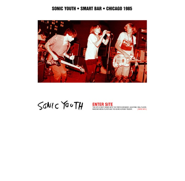 Www.sonicyouth.com : official website of sonic youth