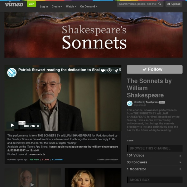 The Sonnets by William Shakespeare on Vimeo