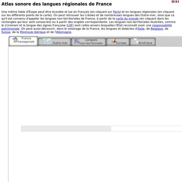 Atlas sonore des langues régionales de France