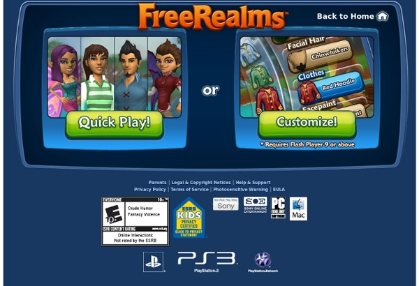 Free Realms - Pre-Create Your Character