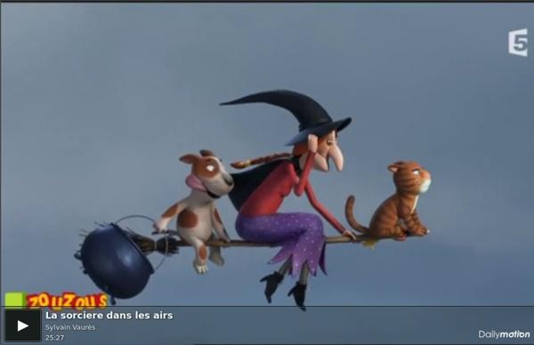 La sorciere dans les airs