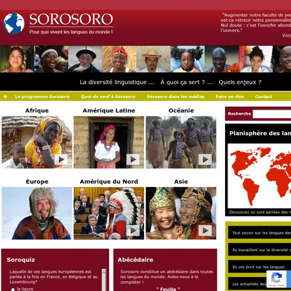 Sorosoro : pour que vivent les langues du monde