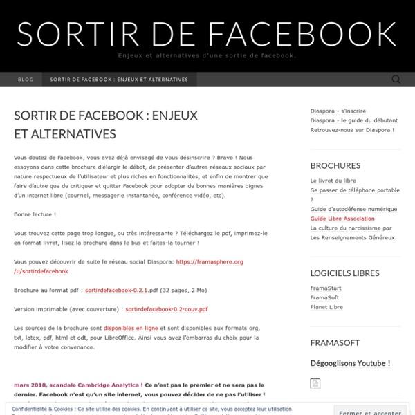 Enjeux et alternatives d'une sortie de facebook.
