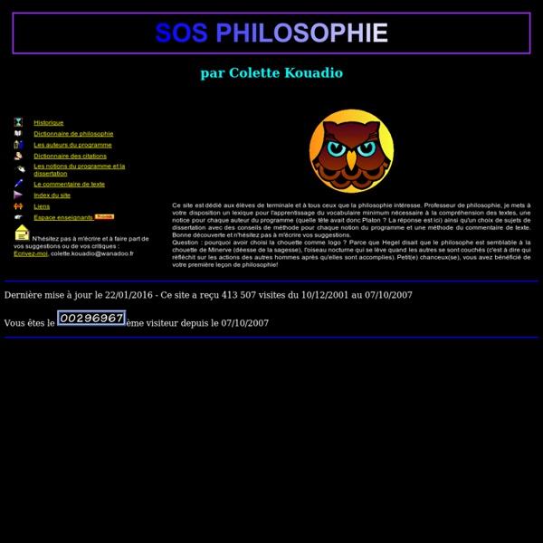 SOS Philosophie